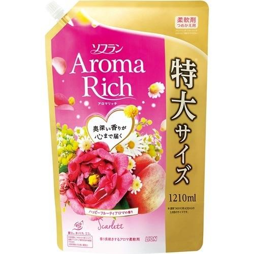 ソフラン アロマリッチ スカーレット ハッピーフルーティアロマの香り 詰替用特大(1210mL)