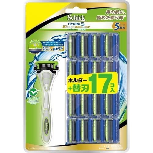 シック ハイドロ5プレミアム 敏感肌用 クラブパック(本体+替刃17コ)