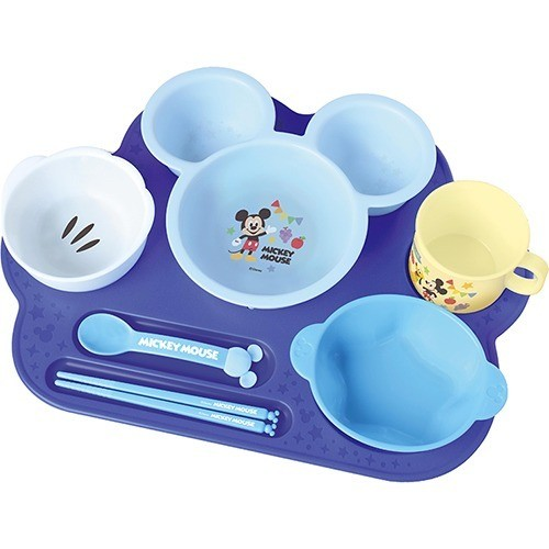 子ども食器 お子様ランチ ミッキーマウス まんぞくプレート(1セット)