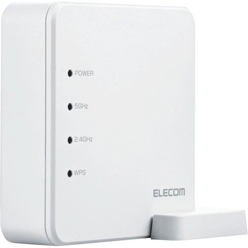 エレコム 11ac 867+300Mbps 無線LANルーター ホワイト WRC-1167FS-W(1台)