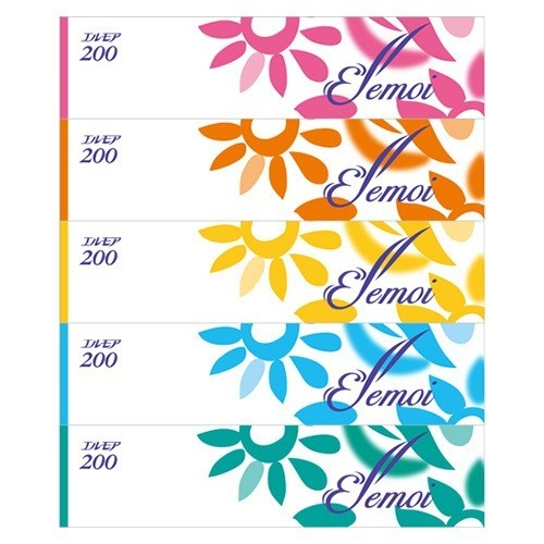 エルモア ティシュー 400枚(200組)(5箱)