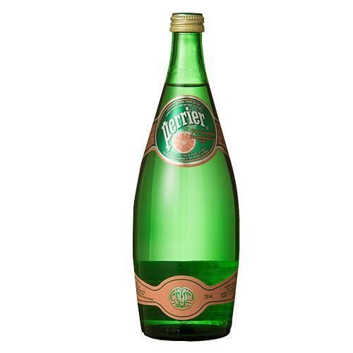 ペリエ ピンクグレープフルーツ グラスボトル(無果汁・炭酸水)(750mL*12本入)