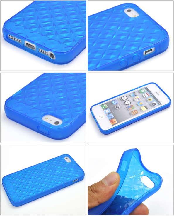 iPhone5/5s/SE専用カラーモザイクソフトケース/8色から選べる