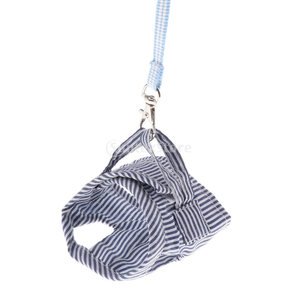 SunniMix 小動物 ハムスター ハーネス リードロープ チェストストラップ 通気性 高品質 ブルー Sの商品画像 3