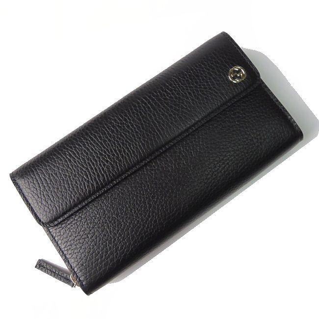 グッチ レザー ジップアラウンドウォレット 449347 CAO0G 1000(ブラック)の商品画像 3