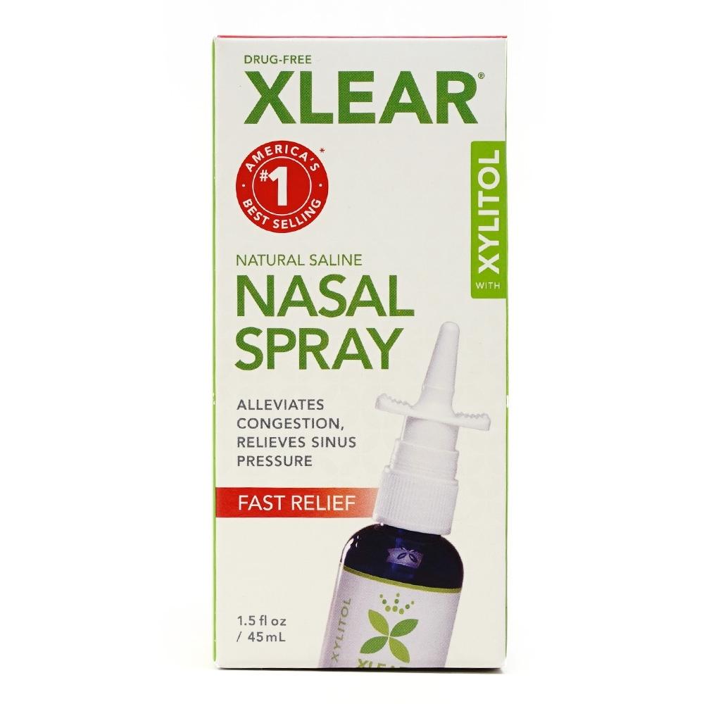 キシリア キシリトール 天然食塩水鼻スプレー 45 ml Xlear Natural Saline Nasal Spray 1.5 fl oz
