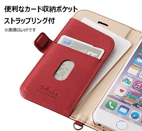 iPhone 6s用 ソフトレザー 磁石タイプ ブラウン PM-A15PLFYBRの商品画像|4