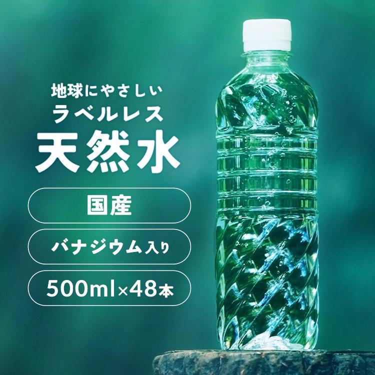水 500ml 48本 ミネラルウォーター 天然水 国産 アイリスオーヤマ ナチュラルウォーター 最安値:予約品