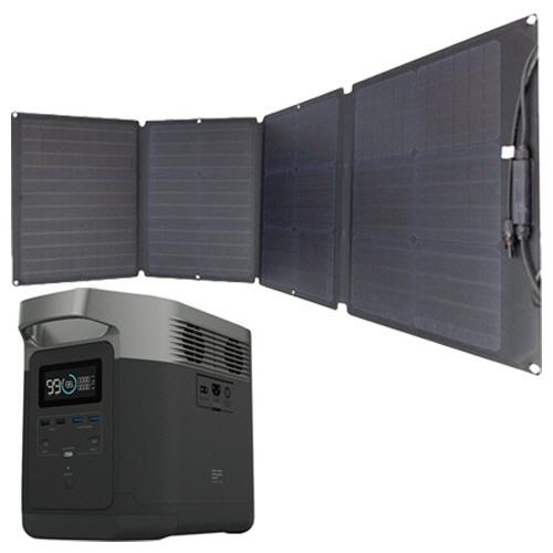 エコフロー ポータブル電源 EFDELTA + 110Wソーラーチャージャー 1セット (お取寄せ品)