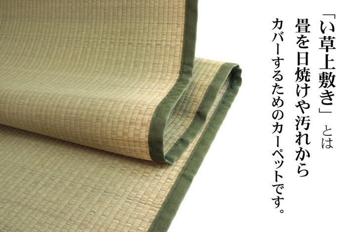 イケヒコ い草上敷き 草津 本間3畳 約191×286cmの商品画像|2