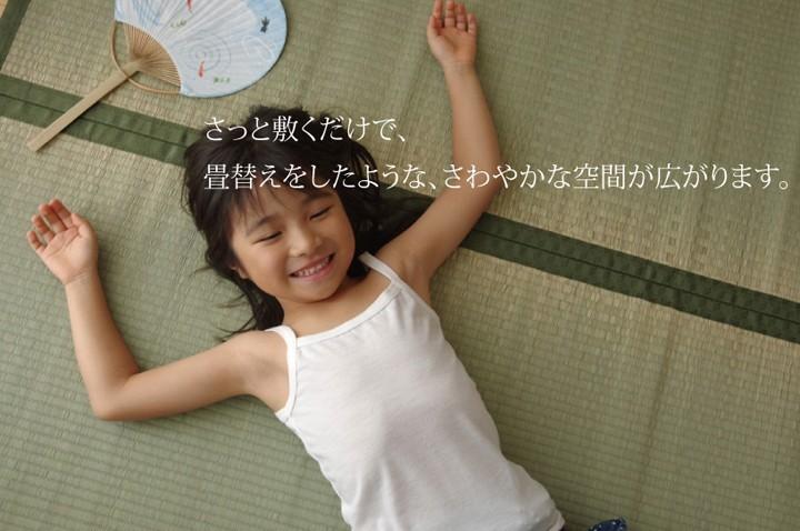 イケヒコ い草上敷き 草津 本間3畳 約191×286cmの商品画像|4