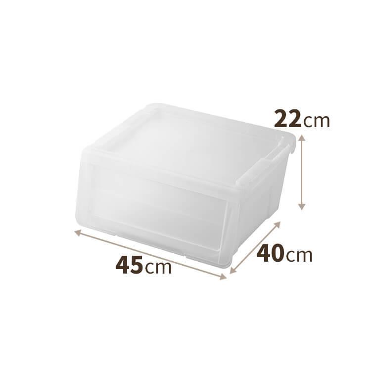 プロフィックス カバコ Sサイズ W450×D400×H220mm 4904746074829 クリア色の商品画像|2