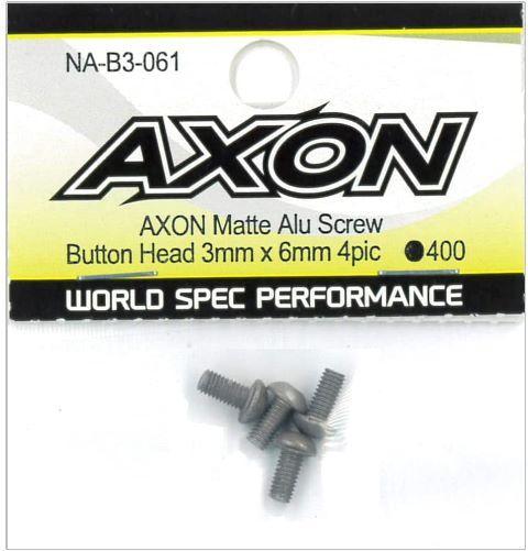 AXON Matte Alu Screw (Button Head 3mm x 6mm 4pic) NA-B3-061の商品画像|ナビ