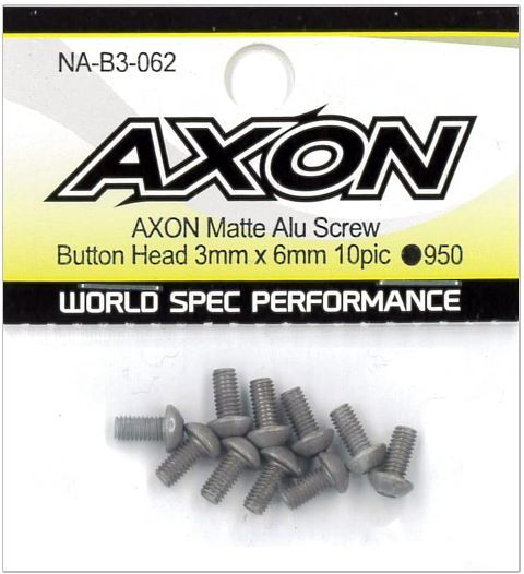 AXON Matte Alu Screw (Button Head 3mm x 6mm 10pic) NA-B3-062の商品画像|ナビ