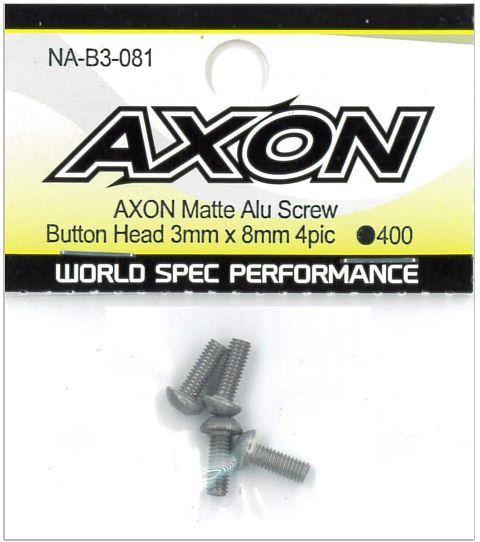 AXON Matte Alu Screw (Button Head 3mm x 8mm 4pic) NA-B3-081の商品画像|ナビ