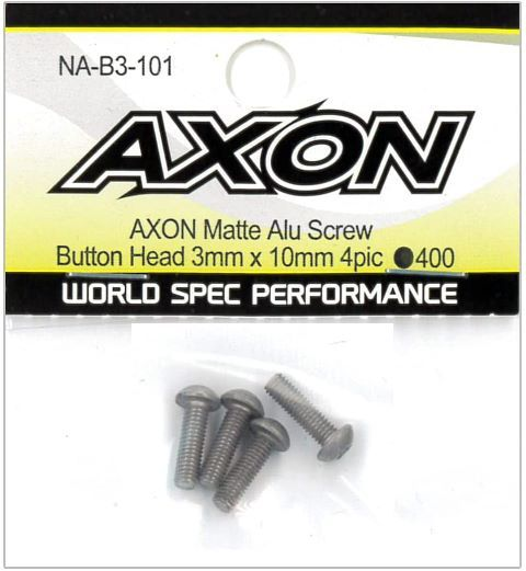 AXON Matte Alu Screw (Button Head 3mm x 10mm 4pic) NA-B3-101の商品画像|ナビ