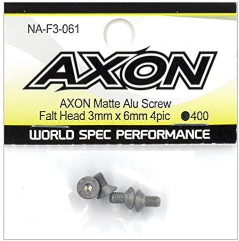 AXON Matte Alu Screw (Flat Head 3mm x 6mm 4pic) NA-F3-061の商品画像|ナビ