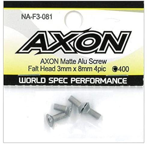 AXON Matte Alu Screw (Flat Head 3mm x 8mm 4pic) NA-F3-081の商品画像|ナビ