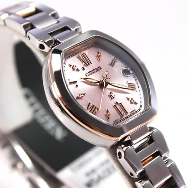クロスシー シチズン 電波 ソーラー ES8054-50W  レディース 腕時計