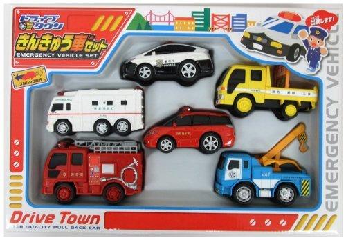 マルカ ドライブタウン きんきゅう車セット 6台セットの商品画像|ナビ