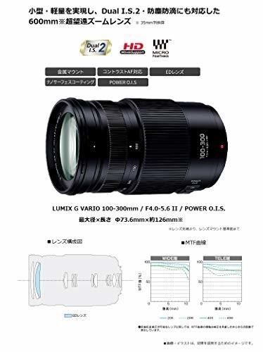 パナソニック LUMIX G VARIO 100-300mm / F4.0-5.6 II / POWER O.I.S.(H-FSA100300)の商品画像|3
