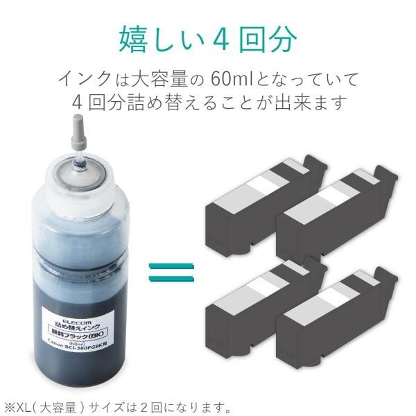 詰め替えインク THC-380PGBK4 (顔料ブラック・4回分+専用工具)の商品画像|4