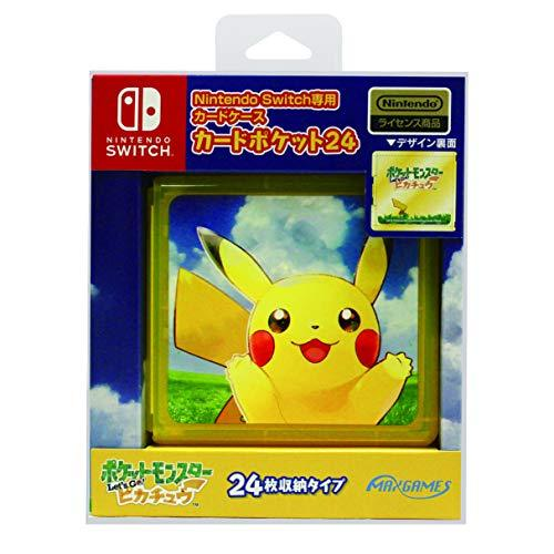 Nintendo Switch専用 カードポケット24 ポケットモンスター Let's Go!ピカチュウ HACF-02PIの商品画像|ナビ