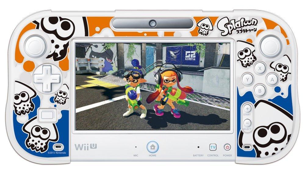 キーズファクトリー シリコンカバーコレクション for Wii U GamePad スプラトゥーン Type-A SCU-003-1の商品画像 ナビ