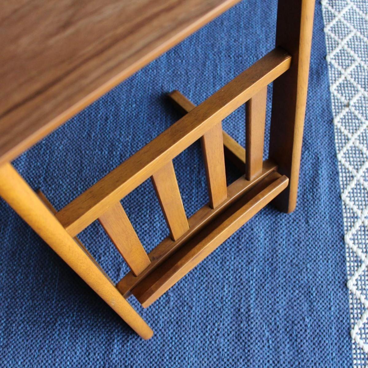 東谷 ソファテーブル W400×D410×H540mm TAC-239WAL ウォールナット色の商品画像|2