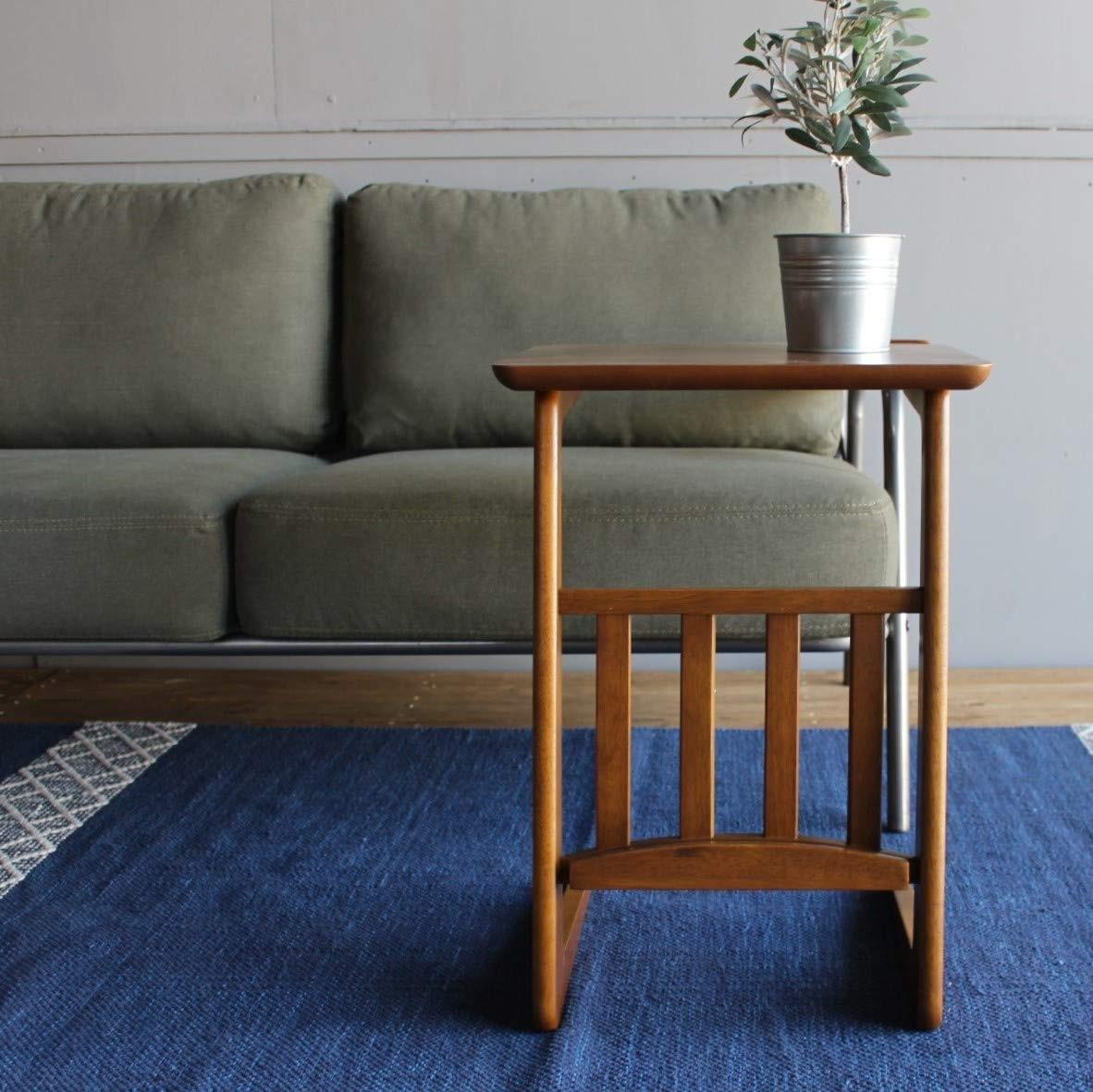 東谷 ソファテーブル W400×D410×H540mm TAC-239WAL ウォールナット色の商品画像|3