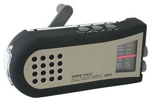 DRETEC/ドリテック 手回しケータイ充電ラジオ PR-306BK __