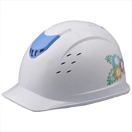 ミドリ安全 デザインヘルメット ハイビスカス&ホワイト 防災用 災害グッズ セーフティ用品 避難用品 防災頭巾