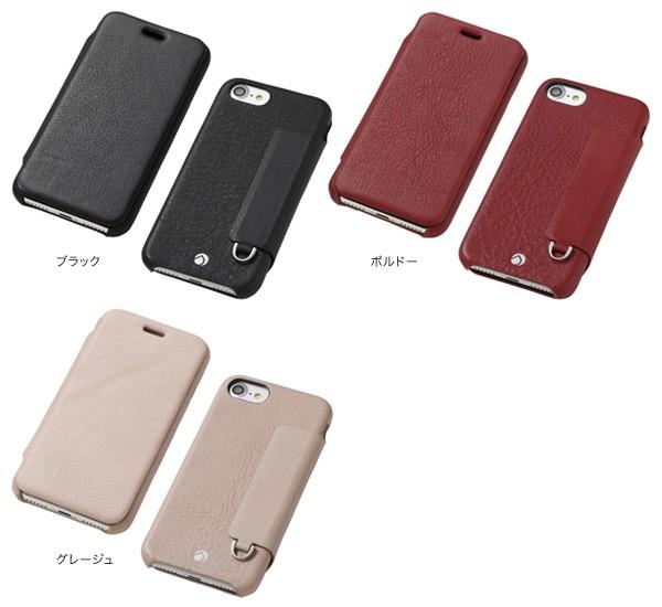 RONDA Spanish Leather Case for iPhone 8/7 フリップタイプ ブラック DCS-IP7RAFSLBKの商品画像 2