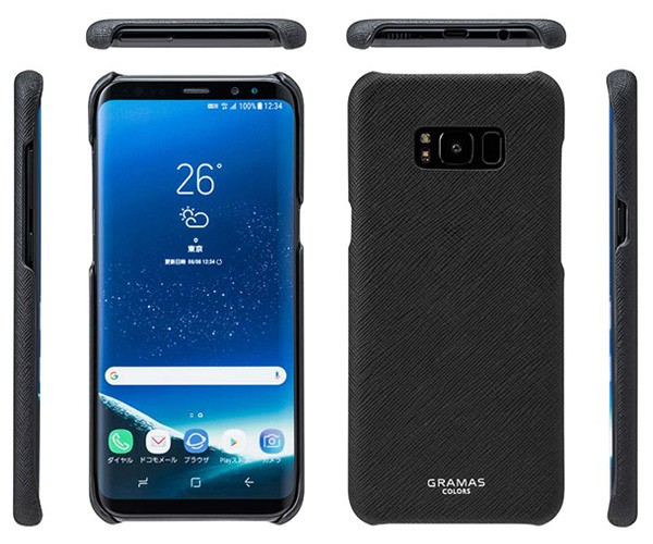GRAMAS COLORS EURO Passione Shell Leather Case for Samsung Galaxy S8+ Black CLC2097PBKの商品画像|3