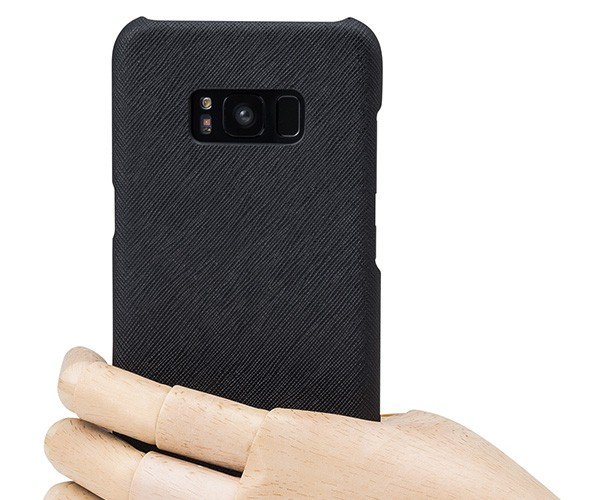 GRAMAS COLORS EURO Passione Shell Leather Case for Samsung Galaxy S8+ Black CLC2097PBKの商品画像|4