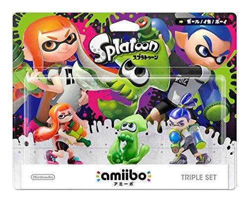 任天堂 Wii U/3DS amiibo トリプルセット[ガール/イカ/ボーイ](スプラトゥーンシリーズ)の商品画像|ナビ