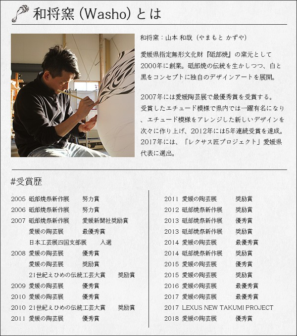 Washoオリジナルの砥部焼の表札の画像1