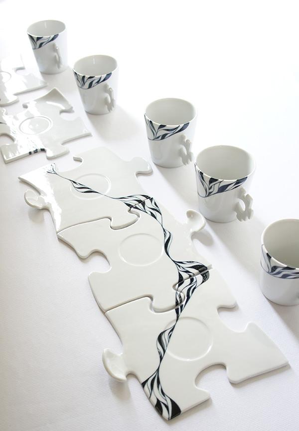 パズルコーヒーカップ5連の画像3