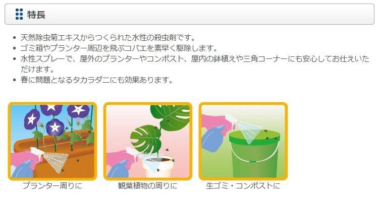 ムシクリンコバエ用スプレー × 1の商品画像|2