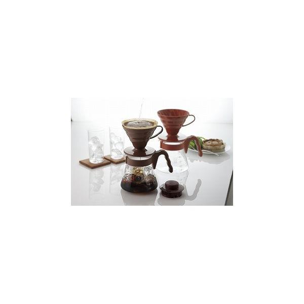 ハリオ V60 コーヒーサーバー02セット 1-4杯用 VCSD-02CBR ブラウンの商品画像|3