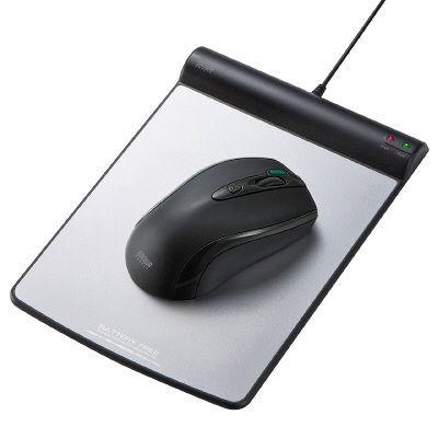 サンワサプライ バッテリーフリーワイヤレスマウス MA-WHNB4BK(ブラック)の商品画像|2