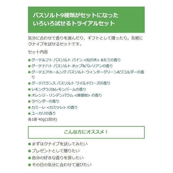 クナイプ バスソルト トライアルセット 9包入の商品画像|4