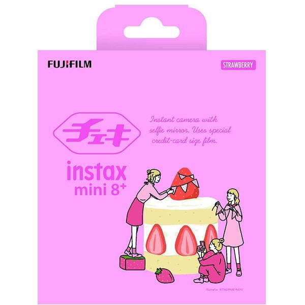 チェキ instax mini 8+(プラス) ストロベリー 純正ショルダーストラップ付きの商品画像 3