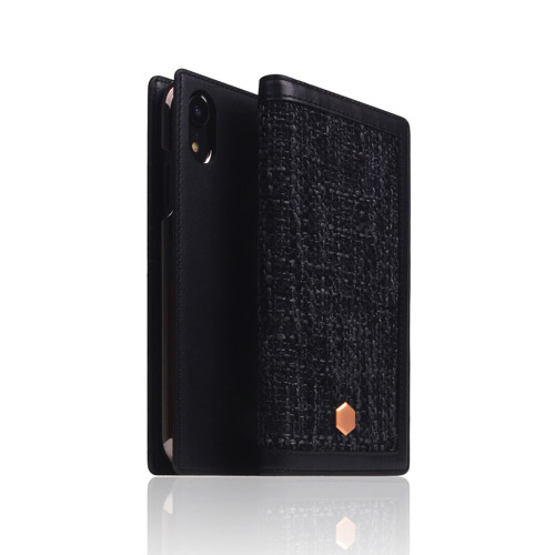 SLG Design iPhone XR用 Edition Calf Skin Leather Diary ブラック SD13713i61の商品画像|2
