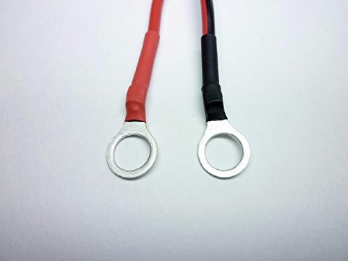 バッテリーとソーラーチャージャーコントローラーなどの接続コード 2m 2.0sq 8φ圧着端子付き (8mm端子)