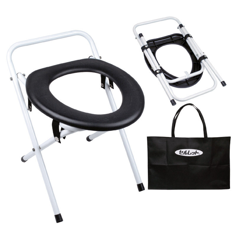 簡易便座 便器 トイレ 折りたたみ式 手提げ袋付き | 非常用 非常時 災害 防災 車 アウトドア キャンプ 用品
