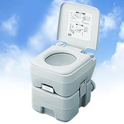 ポータブル水洗トイレ 20リットル 2層式 (ポータブルトイレ 簡易トイレ 介護用 介護用トイレ 高齢者 部屋用トイレ)