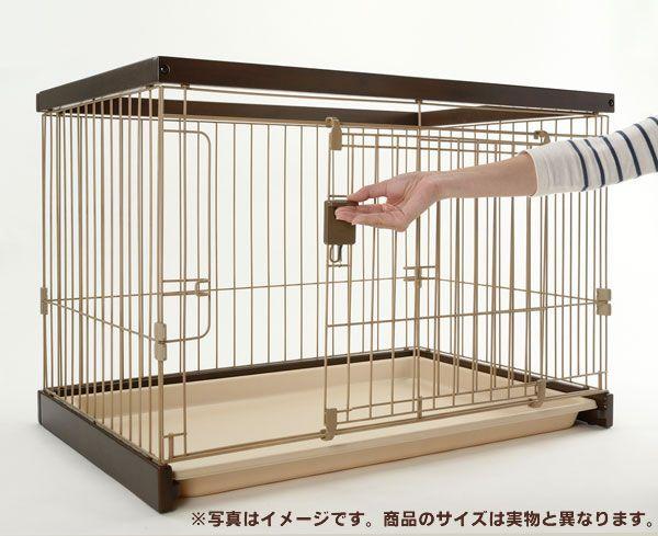 リッチェル 木製お掃除簡単ペットサークル ダークブラウン 150-80の商品画像|3