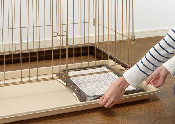 リッチェル 木製お掃除簡単ペットサークル ダークブラウン 150-80の商品画像|4