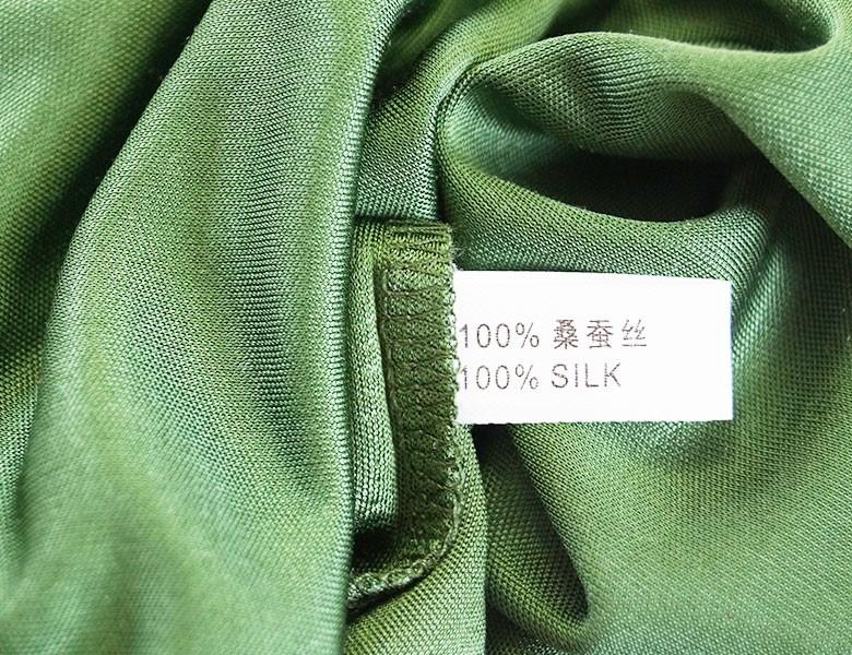 100%シルク シンプルタンクトップ ミディアム丈